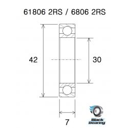 BLACK BEARING B3 Inox Roulement - BB30