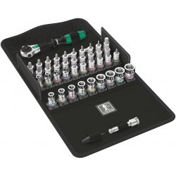 """Wera- Cliquet 8100 SA All-in Zyklop Speed 1/4"""" avec Set d'Embouts"""
