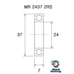 BLACK BEARING roulement pédalier B3 - PF2437