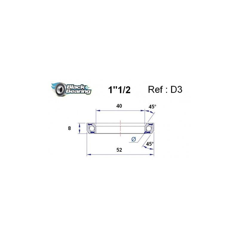 BLACK BEARING B5 Céramique - Roulement 61900-2RS