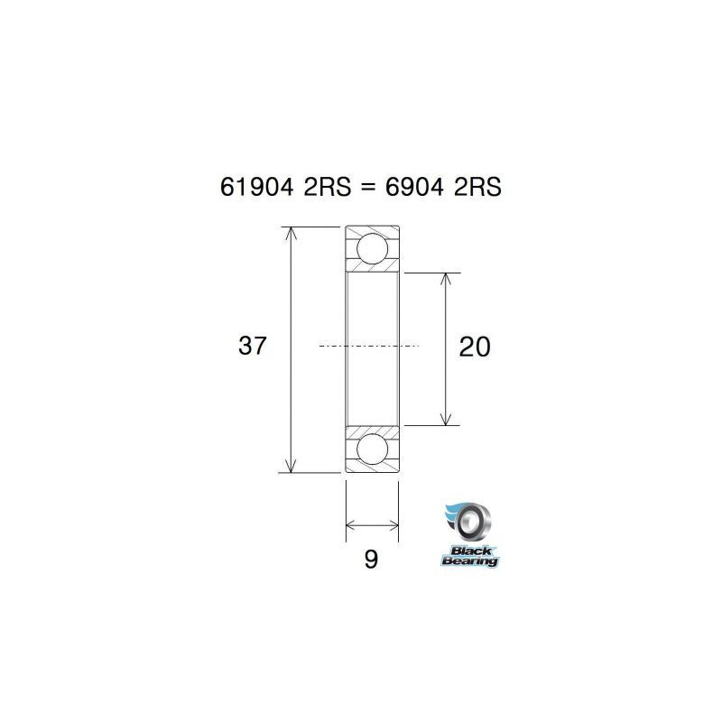 BLACK BEARING B5 Roulement - BB30