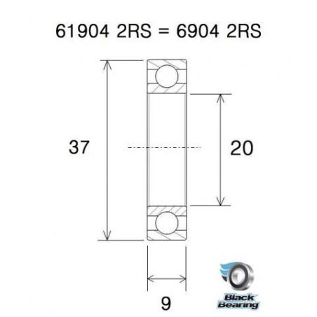 BLACK BEARING B5 Roulement - BB30