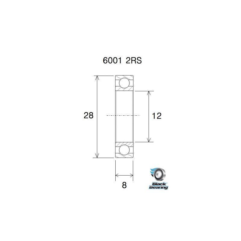 Kit roulements - Roue Hope Pro3 SP XC6 Arrière