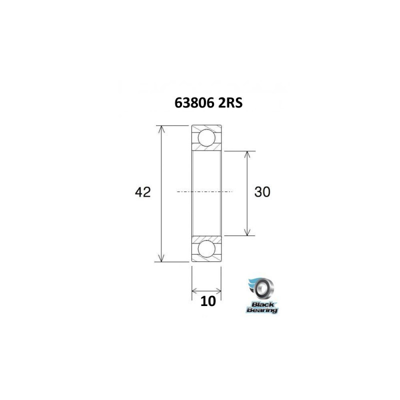 BLACK BEARING B5 roulement 61902-2RS