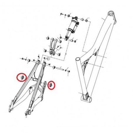 Black bearing B5 - roulement de jeu de direction 30.15 x 41 x 6.5 mm 45/45°