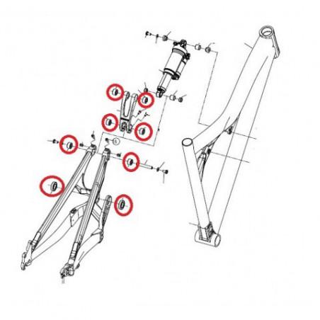 Black bearing B5 - roulement de jeu de direction 30.15 x 41.8 x 7 mm 45/45°