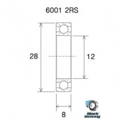 ENDURO BEARING - roulement 6802-LLB abec 3